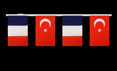 Guirlande d'amitié France - Turquie - 15 x 22 cm