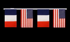 Guirlande d'amitié France - USA - 15 x 22 cm