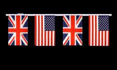 Guirlande d'amitié Royaume-Uni - USA - 15 x 22 cm