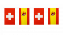 Guirlande d'amitié Suisse - Espagne - 15 x 22 cm