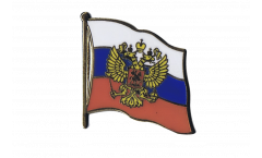 Pin's (épinglette) Drapeau Russie avec blason - 2 x 2 cm
