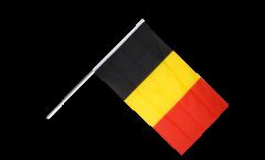Drapeau Belgique sur hampe - 60 x 90 cm