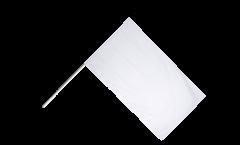 Drapeau Unicolore Blanc sur hampe - 60 x 90 cm