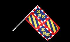 Drapeau France Bourgogne sur hampe - 60 x 90 cm