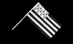 Drapeau France Bretagne sur hampe - 60 x 90 cm