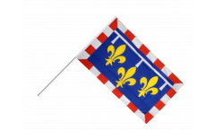 Drapeau France Centre sur hampe - 60 x 90 cm