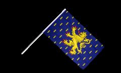 Drapeau France Franche-Comté sur hampe - 60 x 90 cm