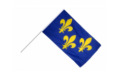 Drapeau France Île de France sur hampe - 60 x 90 cm