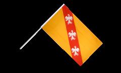 Drapeau France Lorraine sur hampe - 60 x 90 cm