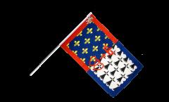 Drapeau France Pays de la Loire sur hampe - 60 x 90 cm