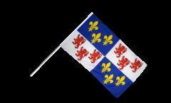 Drapeau France Picardie sur hampe - 60 x 90 cm