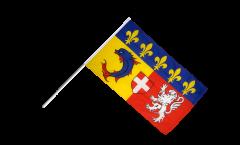 Drapeau France Rhône-Alpes sur hampe - 60 x 90 cm