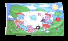 Drapeau Camping Caravane