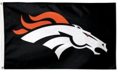 Drapeau NFL Denver Broncos Noir - 90 x 150 cm