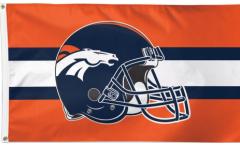 Drapeau Denver Broncos Casque