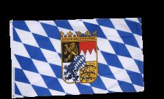Drapeau Allemagne Bavière avec blason