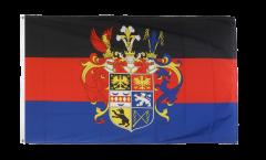 Drapeau Allemagne Ostfriesland Frise orientale avec grand blason