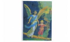 Drapeau Ange avec une fille