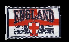 Drapeau Angleterre avec 2 Lions