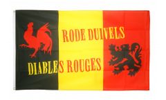 Drapeau supporteur Belgique Diables Rouges - 90 x 150 cm