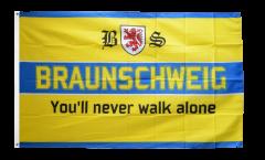 Drapeau supporteur Braunschweig - You'll never walk alone