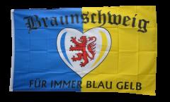 Drapeau supporteur Braunschweig Für immer blau gelb