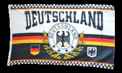 Drapeau supporteur Allemagne couronne de laurier 4 étoiles