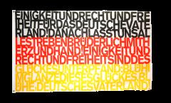Drapeau supporteur Allemagne Hymne national