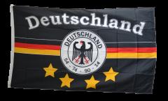 Drapeau supporteur Allemagne noir avec 4 étoiles