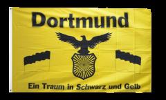 Drapeau supporteur Dortmund - Traum in Schwarz und Gelb