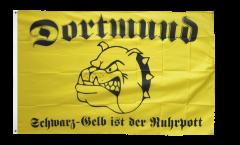 Drapeau supporteur Dortmund bulldog Ruhrpott