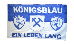 Drapeau supporteur Gelsenkirchen Königsblau ein Leben lang