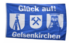 Drapeau supporteur Gelsenkirchen Chevalement de mine