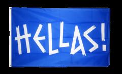 Drapeau supporteur Grèce HELLAS! - 90 x 150 cm