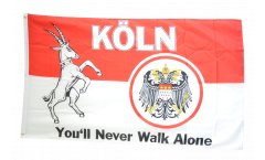 Drapeau supporteur Cologne You'll never walk alone