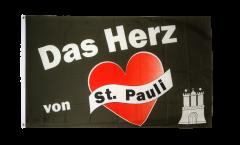 Drapeau supporteur St. Pauli - Das Herz von St. Pauli