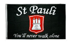 Drapeau supporteur St. Pauli - You'll never walk alone