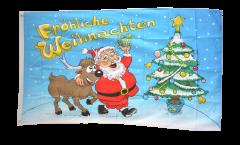 Drapeau Fröhliche Weihnachten - 90 x 150 cm