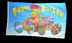 Drapeau Joyeuses Pâques oeufs de Pâques - 90 x 150 cm