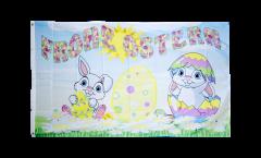 Drapeau Frohe Ostern Joyeuses Pâques 6