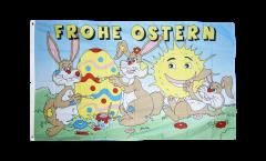 Drapeau Frohe Ostern Joyeuses Pâques 7 - 90 x 150 cm