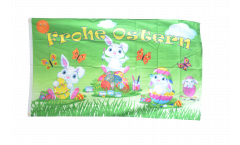 Drapeau Frohe Ostern lapin de Pâques 2 - 90 x 150 cm