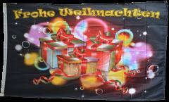 Drapeau Frohe Weihnachten remise des cadeaux - 90 x 150 cm
