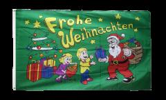 Drapeau Frohe Weihnachten cadeaux - 90 x 150 cm