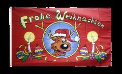 Drapeau Frohe Weihnachten renne - 90 x 150 cm