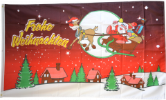 Drapeau Joyeux Noël rouge