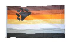 Drapeau Gay Pride Bear - 90 x 150 cm