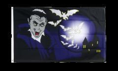 Drapeau Halloween Vampire et Chauves-souris - 90 x 150 cm