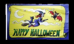 Drapeau Happy Halloween jaune - 90 x 150 cm
