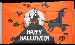 Drapeau Happy Halloween orangé